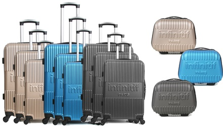 1133997d8c8bcd Vanity case et ou set de 3 valises en ABS Infinitif Paris   Deals et ...