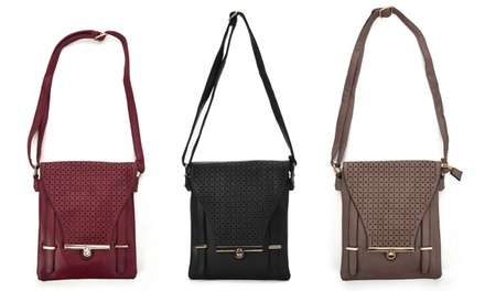 Hollowed-Out Cross Body Bag