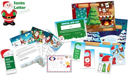 Personalised Santa Claus Letter with Optional Activity Pack from Santa Letter Direct