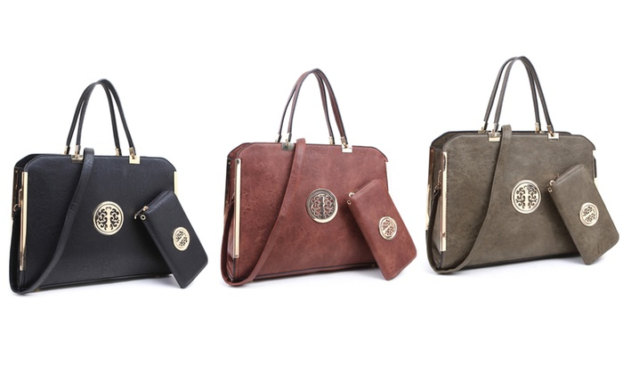 Mmk Collection Fashion Briefcase Handbag With Matching Wallet