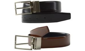 Alpine Swiss Men's Reversible Spanish Leather Dress Belt
