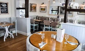 The Three Horseshoes: Two-Course British Lunch for Two or Four at The Three Horseshoes (53% Off)