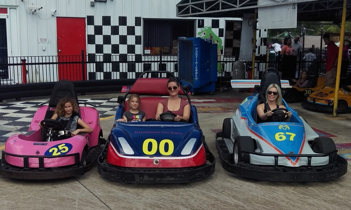 Kissimmee Go-Karts - Kissimmee: Go-Kart or Indy-Kart Package with Arcade Tokens and Gator Feeding for Two at Kissimmee Go-Karts (Up to 64% Off)