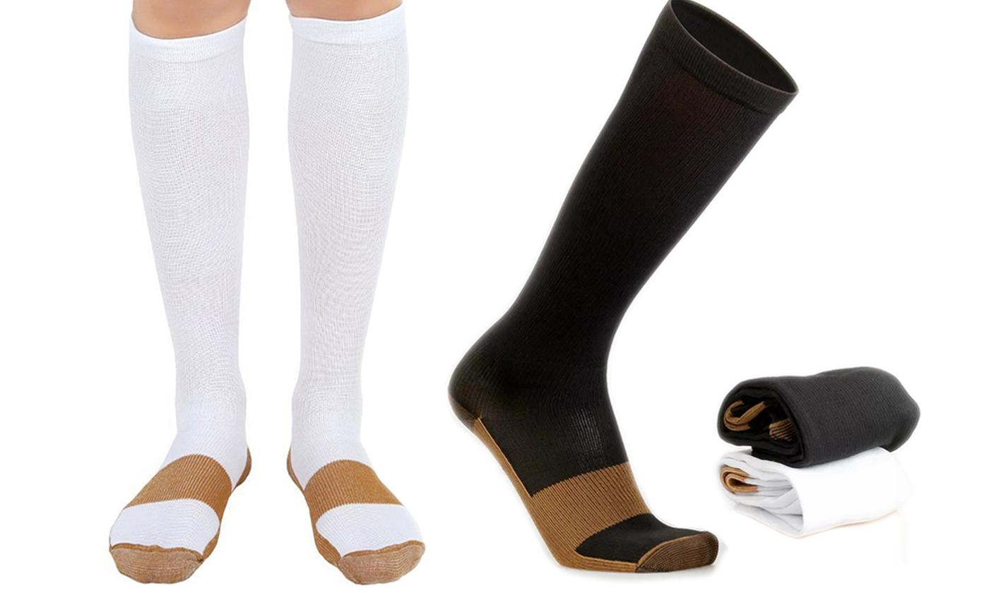 Up to Four Pairs of Copper Infused Compression Socks