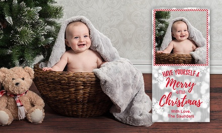 In-Studio Photo Shoot with 20, 40, or 60 Same-Day Holiday Cards from Picture People (Up to 63% Off)