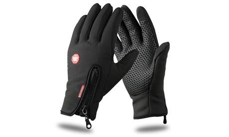 1x oder 2x Unisex-Softshell Fahrradhandschuhe mit Touchscreen-Funktion