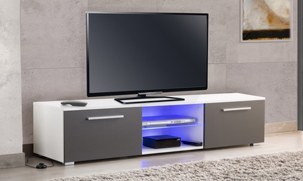 meuble tv utah 160 cm groupon. Black Bedroom Furniture Sets. Home Design Ideas