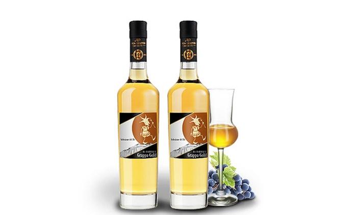 2 Flaschen Grappa Gold Selezione del Re 40% vol. inkl. Versand (55% sparen*)
