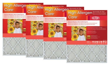 DuPont High Allergen Care Air Furnace Filters (4-Pack)