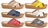 Henry Ferrera Women's Comfort Studded Wedge Sandals