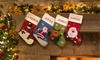 Dinkleboo: One or Two Personalised Santa Stockings from Dinkleboo (Up to 63% Off)