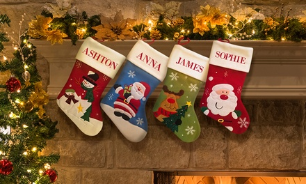 One or Two Personalised Santa Stockings from Dinkleboo (Up to 63% Off)