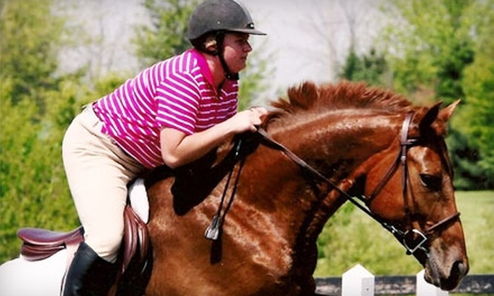 Downtown Equestrian Center - Frankfort: Horseback-Riding Lessons at Downtown Equestrian Center in Frankfort. Two Options Available.
