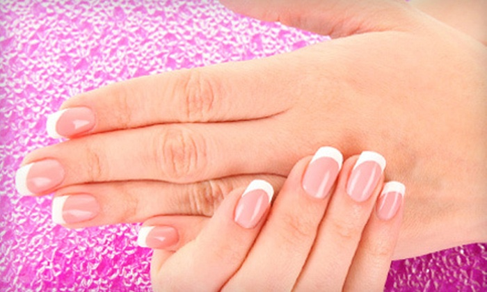 Salon W - West Huntsville,English Terrace: Shellac Manicure or Women or Men's Haircut at Salon W (Up to 52% Off)