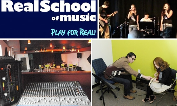 The Real School of Music - Burlington: $50 for Four Private Lessons and Full Membership at The Real School of Music ($140 Value)