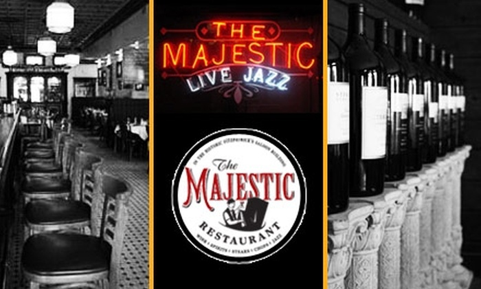 The Majestic Restaurant - Central Business District - Downtown: $25 for $50 Worth of Fine Dining and Drinks at The Majestic Restaurant