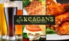 53% Off at Keagan's or Finn McCool's