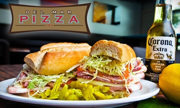Del Mar Pizza - San Diego: $10 for $20 Worth of Pizza and More at Del Mar Pizza in Del Mar