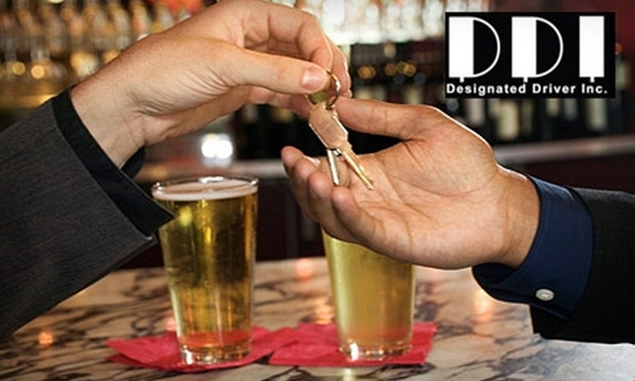 Designated Driver Inc. - Bakersfield: $20 for One Ride from Designated Driver Inc. ($45 Value)