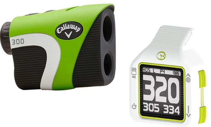 Golf Buddy CT2 Micro GPS Rangefinder or Callaway Golf 300 Laser Rangefinder Bundle