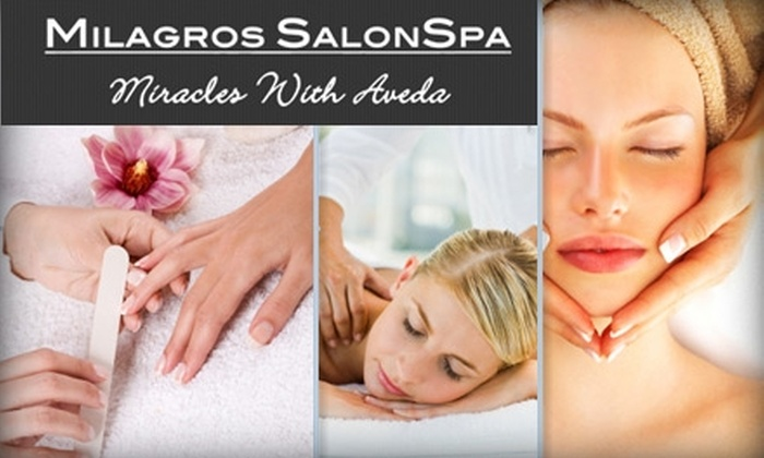 Milagros SalonSpa, formerly Etherea Salon.Spa - Multiple Locations: $50 for $100 Worth of Spa Services at Milagros SalonSpa