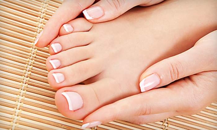 Metro Hair Studio - First Ward: $27 for a Spa Mani-Pedi at Metro Hair Studio ($55 Value)