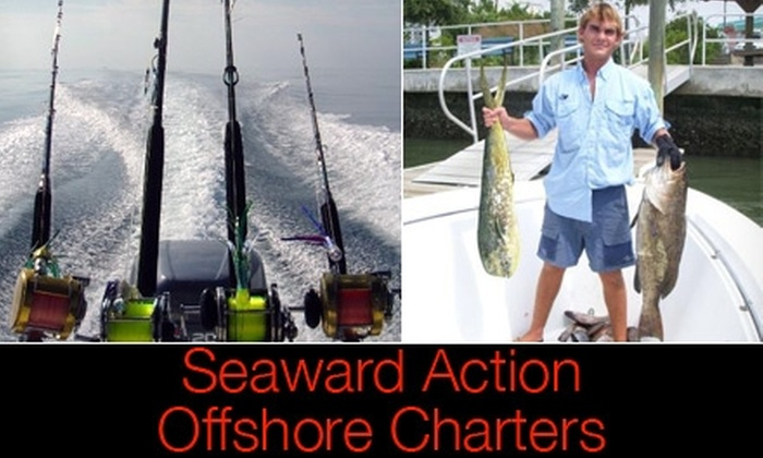 Seaward Action Charters - Wrightsville Beach: $199 for a 4-Hour Group Fishing Trip for Up to 6 People from Seaward Action Charters ($350 Value)
