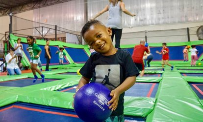 image for Jump Sessions with Socks and Themed Parties at Rebounderz Edison (Up to 29% Off)