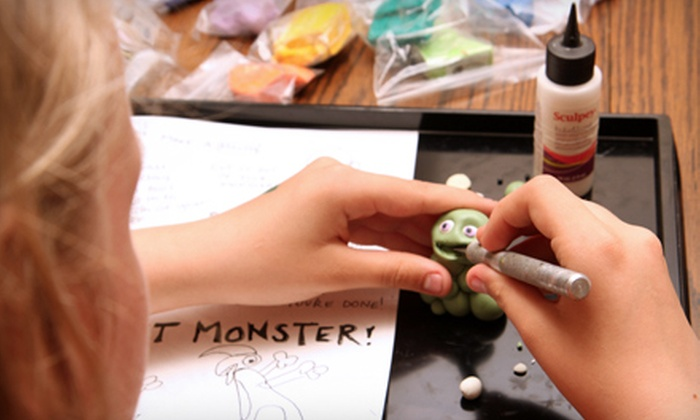 "Claymate Creations - Kingfield: $22 for a ""How to Make a Cool Monster"" Clay Playshop at Claymate Creations ($45 Value)"
