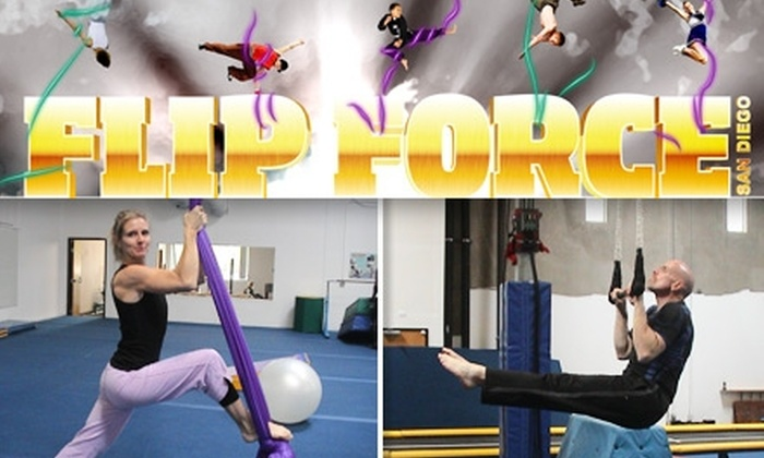 Flip Force San Diego - Kearny Mesa: $25 for Four Classes at Flip Force San Diego (Up to $60 Value)