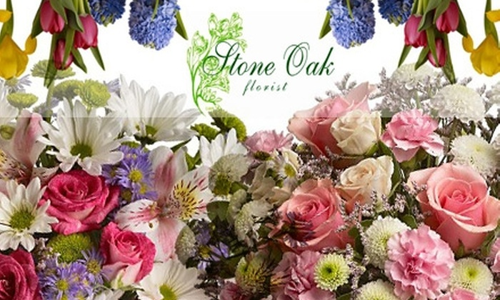 Stone Oak Florist - Stone Oak: $20 for $50 Worth of Flower Arrangements, Balloons, Gift Baskets, and More at Stone Oak Florist