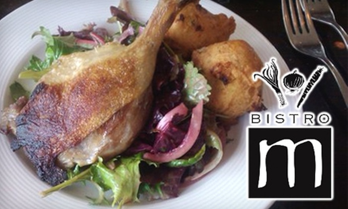 Bistro M - Windsor: $20 for $40 Worth of Traditional French Dinner or $10 for $20 Worth of Lunch or Brunch Fare at Bistro M in Windsor