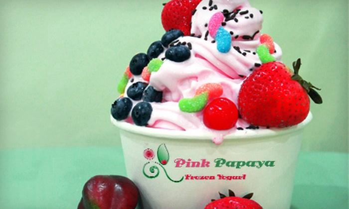 Pink Papaya Frozen Yogurt - City Center: $15 for $30 Gift Card for Frozen Yogurt at Pink Papaya Frozen Yogurt in Coral Springs