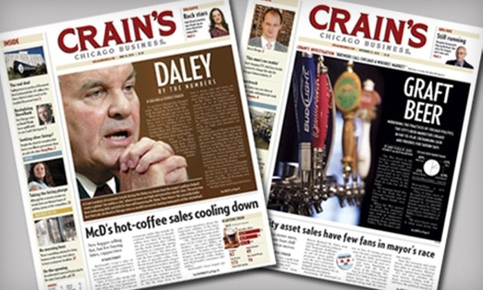 "Crain's Chicago Business - Multiple Locations: $25 for a One-Year Subscription to ""Crain's Chicago Business"" ($98 Value)"