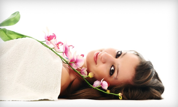 Fringes Studio Salon and Spa - Knoxville: $69 for Hot-Stone Mani-Pedi, Haircut, Style, Deep Conditioning, and Eyebrow Shaping at Fringes Studio Salon and Spa ($165 Value)