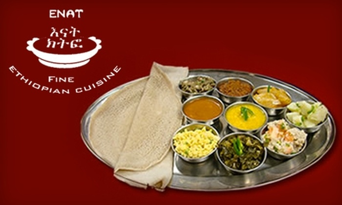 Enat - Lincolnia: $15 for $30 Worth of Ethiopian Cuisine at Enat Restaurant