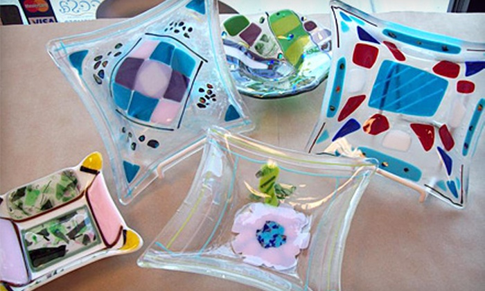Designing Dish - East Aurora: Ladies' Pottery-Painting or Glass-Fusing Night for One or Two at Designing Dish
