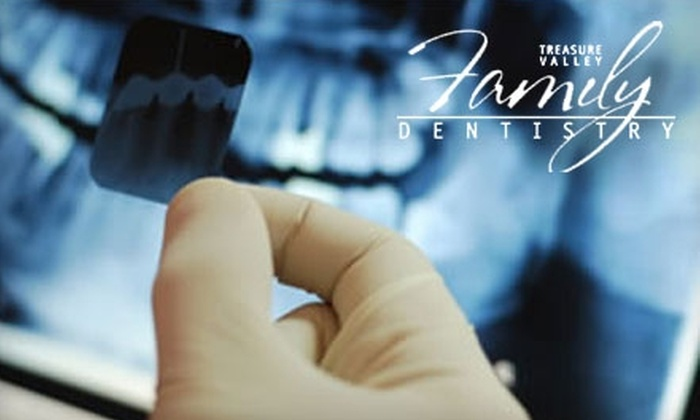Treasure Valley Family Dentistry - Meridian: $59 for Full Dental Cleaning, Exam, X-rays, and Custom-Fit Tray-Whitening Kit from Treasure Valley Family Dentistry ($615 Value) in Meridian