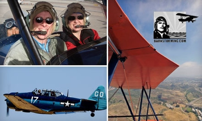 Barnstorming Adventures - Kearny Mesa: Adventure Air Flights from Barnstorming Adventures. Three Flights Available.