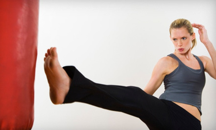 Rondeau's Kickboxing - Multiple Locations: 5 or 10 Women's Kickboxing Classes with Handwraps at Rondeau's Kickboxing (Up to 70% Off)