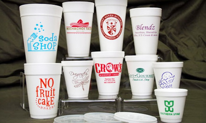 Mint Julep Paperie - Caddo Heights, South Highlands: 50 Customizable Foam Cups or a Three Designing Women Stamp at Mint Julep Paperie