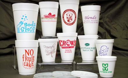50 Customizable 16-Ounce Foam Cups (a $57 value) - Mint Julep Paperie in Shreveport