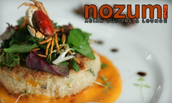 Nozumi Asian Cuisine and Lounge - South Barrington: $15 for $30 Worth of Asian Dinner Fare at Nozumi Asian Cuisine and Lounge in South Barrington (or $7 for $15 Worth of Lunch)
