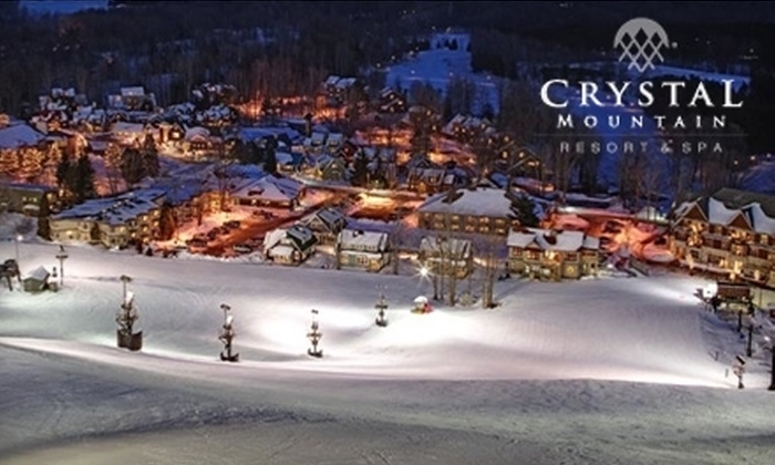 Crystal Mountain Resort and Spa - Weldon: $55 for Two Adult Lift Tickets and $20 Worth of Cuisine at Crystal Mountain Resort in Thompsonville, MI (Up to $132 Value)