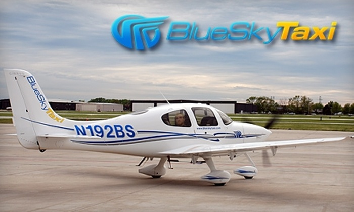 Blue Sky Taxi - Multiple Locations: $200 for 45-Minute Sightseeing Flight Plus Champagne Toast for Two People from Blue Sky Taxi