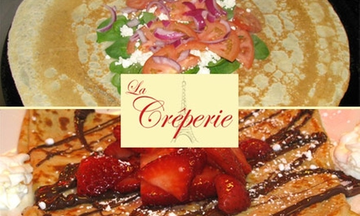 La Crêperie - College Hill: $5 for $10 Worth of Crêpes, Wraps, and More at La Crêperie