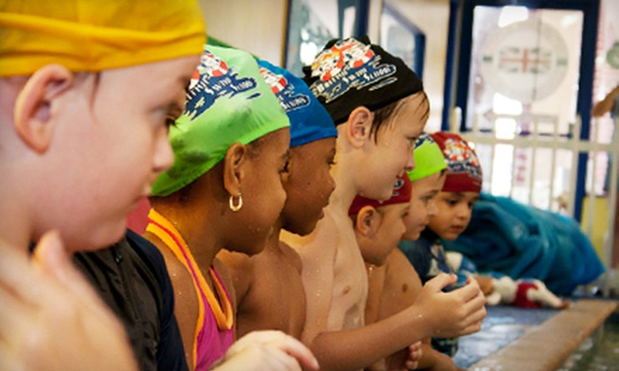 British Swim School - Multiple Locations: $61 for One Month of Twice-Weekly Group Swimming Lessons at British Swim School ($157 Value)