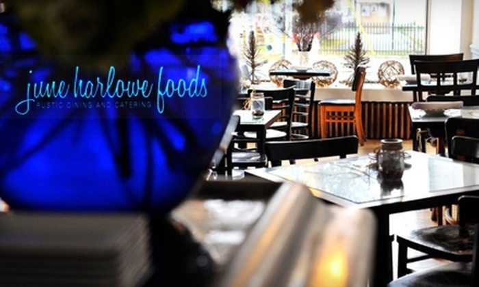 June Harlowe Foods - Silverthorn: $17 for $35 Worth of Local Comfort Fare and Drinks at June Harlowe Foods