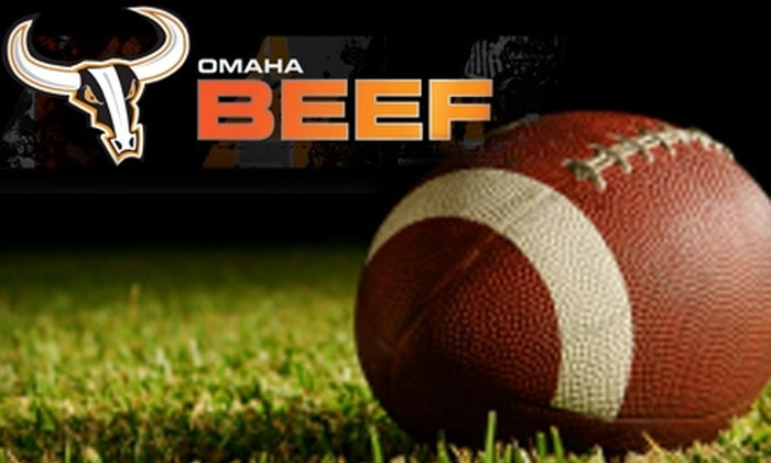 Omaha Beef Indoor Football - Southeast Omaha: $130 For Two Season Tickets to Omaha Beef Indoor Football, Plus Omaha Beef T-Shirt (Up to $304.95 Value)