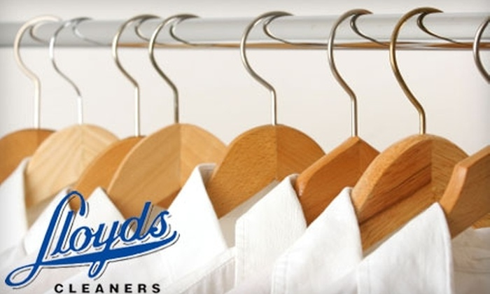 Lloyds Cleaners - Multiple Locations: $15 for $30 Worth of Dry Cleaning and Services at Lloyds Cleaners